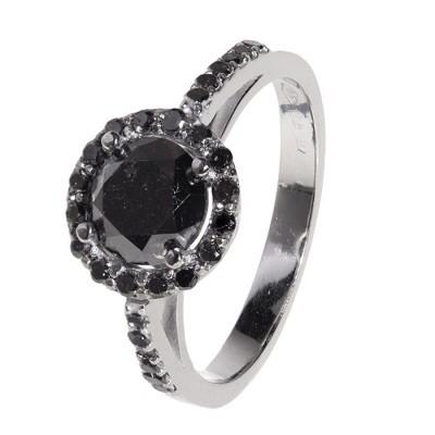 RING WHITE GOLD & black Diamonds