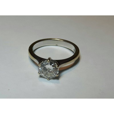Ring white gold and diamond